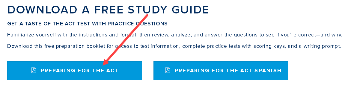 SAT / ACT / TAP Preparation Page