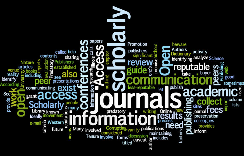 Scholarly Communication Word Cloud